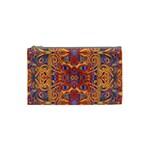 Oriental Watercolor Ornaments Kaleidoscope Mosaic Cosmetic Bag (Small)