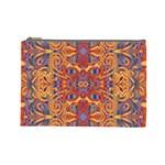 Oriental Watercolor Ornaments Kaleidoscope Mosaic Cosmetic Bag (Large)