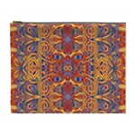 Oriental Watercolor Ornaments Kaleidoscope Mosaic Cosmetic Bag (XL)