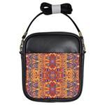Oriental Watercolor Ornaments Kaleidoscope Mosaic Girls Sling Bags