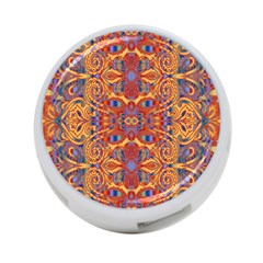 Oriental Watercolor Ornaments Kaleidoscope Mosaic 4 Port Usb Hub (two Sides)  by EDDArt
