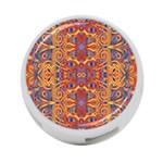 Oriental Watercolor Ornaments Kaleidoscope Mosaic 4-Port USB Hub (Two Sides)