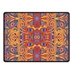 Oriental Watercolor Ornaments Kaleidoscope Mosaic Fleece Blanket (Small)
