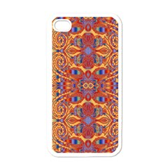 Oriental Watercolor Ornaments Kaleidoscope Mosaic Apple Iphone 4 Case (white) by EDDArt