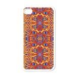 Oriental Watercolor Ornaments Kaleidoscope Mosaic Apple iPhone 4 Case (White)