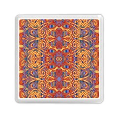 Oriental Watercolor Ornaments Kaleidoscope Mosaic Memory Card Reader (square)  by EDDArt
