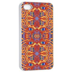 Oriental Watercolor Ornaments Kaleidoscope Mosaic Apple Iphone 4/4s Seamless Case (white) by EDDArt