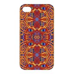 Oriental Watercolor Ornaments Kaleidoscope Mosaic Apple Iphone 4/4s Premium Hardshell Case by EDDArt