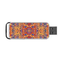Oriental Watercolor Ornaments Kaleidoscope Mosaic Portable Usb Flash (two Sides) by EDDArt