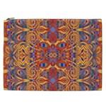 Oriental Watercolor Ornaments Kaleidoscope Mosaic Cosmetic Bag (XXL)