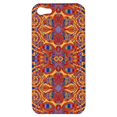 Oriental Watercolor Ornaments Kaleidoscope Mosaic Apple Iphone 5 Hardshell Case by EDDArt