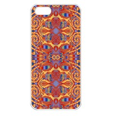 Oriental Watercolor Ornaments Kaleidoscope Mosaic Apple Iphone 5 Seamless Case (white) by EDDArt