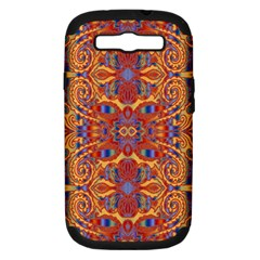 Oriental Watercolor Ornaments Kaleidoscope Mosaic Samsung Galaxy S Iii Hardshell Case (pc+silicone) by EDDArt