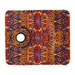 Oriental Watercolor Ornaments Kaleidoscope Mosaic Samsung Galaxy S  III Flip 360 Case