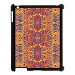 Oriental Watercolor Ornaments Kaleidoscope Mosaic Apple iPad 3/4 Case (Black)