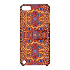 Oriental Watercolor Ornaments Kaleidoscope Mosaic Apple Ipod Touch 5 Hardshell Case With Stand by EDDArt