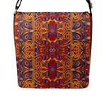 Oriental Watercolor Ornaments Kaleidoscope Mosaic Flap Messenger Bag (L)