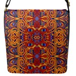 Oriental Watercolor Ornaments Kaleidoscope Mosaic Flap Messenger Bag (S)