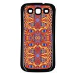 Oriental Watercolor Ornaments Kaleidoscope Mosaic Samsung Galaxy S3 Back Case (Black)
