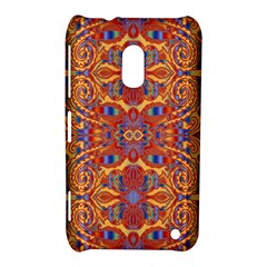 Oriental Watercolor Ornaments Kaleidoscope Mosaic Nokia Lumia 620 by EDDArt