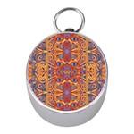 Oriental Watercolor Ornaments Kaleidoscope Mosaic Mini Silver Compasses