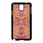 Oriental Watercolor Ornaments Kaleidoscope Mosaic Samsung Galaxy Note 3 Neo Hardshell Case (Black)