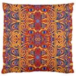 Oriental Watercolor Ornaments Kaleidoscope Mosaic Standard Flano Cushion Case (One Side)