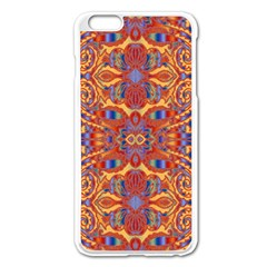 Oriental Watercolor Ornaments Kaleidoscope Mosaic Apple Iphone 6 Plus/6s Plus Enamel White Case by EDDArt