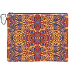 Oriental Watercolor Ornaments Kaleidoscope Mosaic Canvas Cosmetic Bag (xxxl) by EDDArt