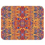 Oriental Watercolor Ornaments Kaleidoscope Mosaic Double Sided Flano Blanket (Medium)