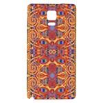 Oriental Watercolor Ornaments Kaleidoscope Mosaic Galaxy Note 4 Back Case