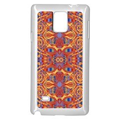Oriental Watercolor Ornaments Kaleidoscope Mosaic Samsung Galaxy Note 4 Case (white) by EDDArt