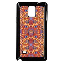 Oriental Watercolor Ornaments Kaleidoscope Mosaic Samsung Galaxy Note 4 Case (black) by EDDArt