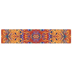 Oriental Watercolor Ornaments Kaleidoscope Mosaic Flano Scarf (small) by EDDArt