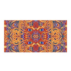 Oriental Watercolor Ornaments Kaleidoscope Mosaic Satin Wrap by EDDArt