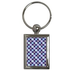 Snowflakes Pattern Key Chains (rectangle)  by DanaeStudio