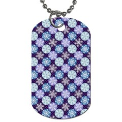 Snowflakes Pattern Dog Tag (two Sides) by DanaeStudio