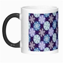 Snowflakes Pattern Morph Mugs by DanaeStudio