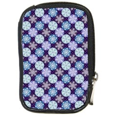 Snowflakes Pattern Compact Camera Cases by DanaeStudio