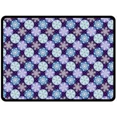 Snowflakes Pattern Fleece Blanket (large)  by DanaeStudio
