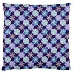 Snowflakes Pattern Large Cushion Case (one Side) by DanaeStudio
