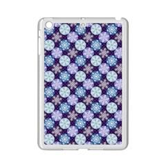 Snowflakes Pattern Ipad Mini 2 Enamel Coated Cases by DanaeStudio
