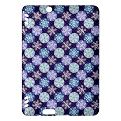 Snowflakes Pattern Kindle Fire Hdx Hardshell Case by DanaeStudio