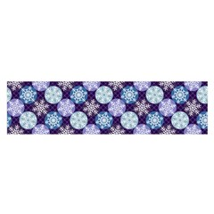 Snowflakes Pattern Satin Scarf (oblong) by DanaeStudio