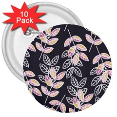 Winter Beautiful Foliage  3  Buttons (10 Pack)  by DanaeStudio