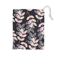 Winter Beautiful Foliage  Drawstring Pouches (large)  by DanaeStudio