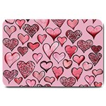 Artistic Valentine Hearts Large Doormat