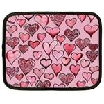 Artistic Valentine Hearts Netbook Case (XL)