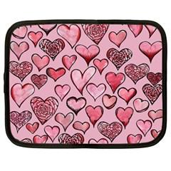 Artistic Valentine Hearts Netbook Case (xxl)  by BubbSnugg