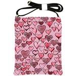 Artistic Valentine Hearts Shoulder Sling Bags